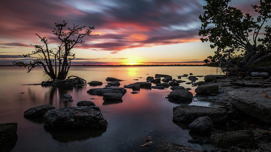 Beautiful Photograph - Sunset In Merritt Island - Florida, United States - Seascape Photography by Giuseppe Milo