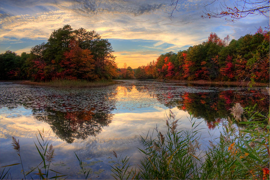 Lake Sunset In New Jersey Photograph By Kevin Hill