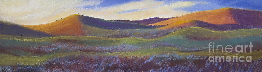 Nature Painting - Sunset In Orange by Lucinda  Hansen