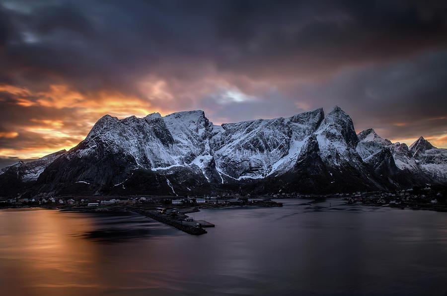 Lofoten Photograph - Sunset In Reine by Swen Stroop