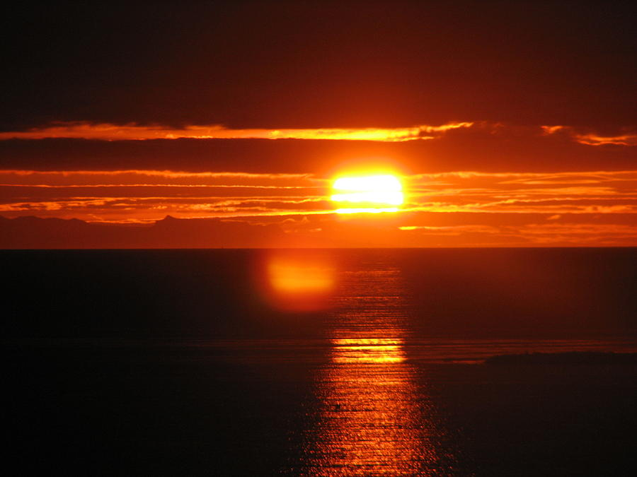 Sunset Photograph - Sunset In Reykjavik by Andres Zoran Ivanovic