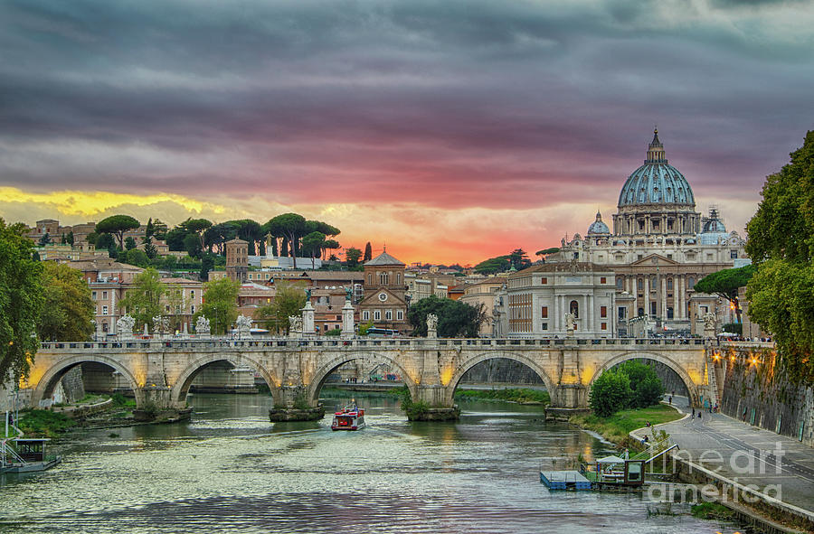 Sunset in Rome by Jennifer Ludlum