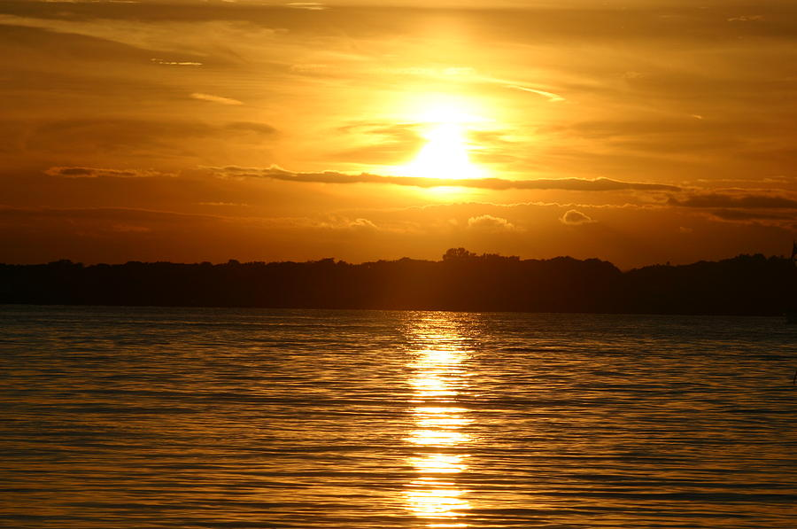 Water Photograph - Sunset In Shelter Island  by Matthew Kennedy