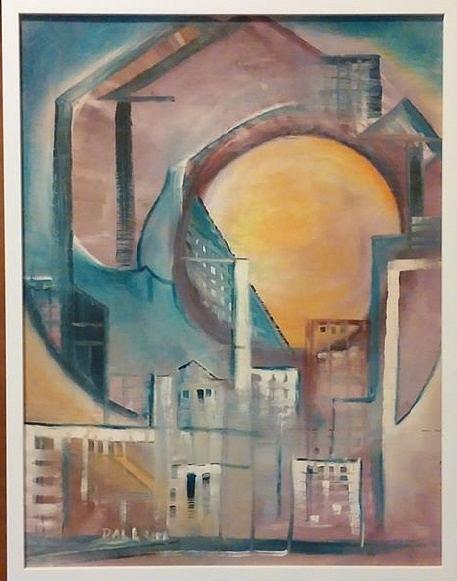Sunset In The City Painting by Gregory Dallum