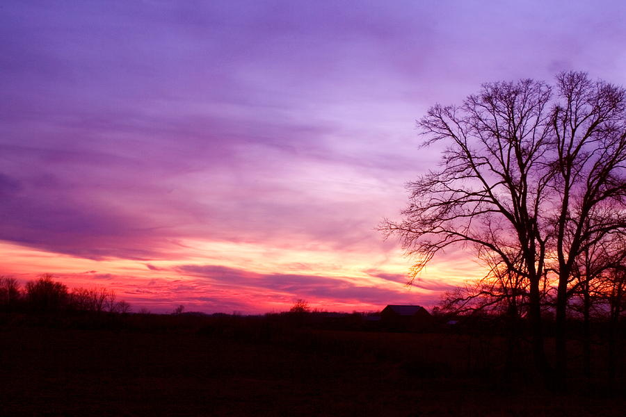 Sunset Photograph - Sunset In The Country by Amanda Kiplinger