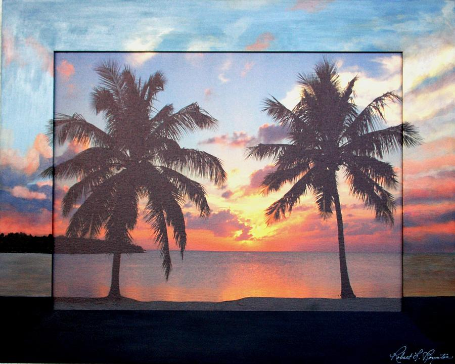 Keys Mixed Media - Sunset In The Keys by Robert Boynton