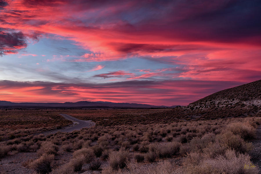 Sunset In The Owens River Valley by Stuart Gordon