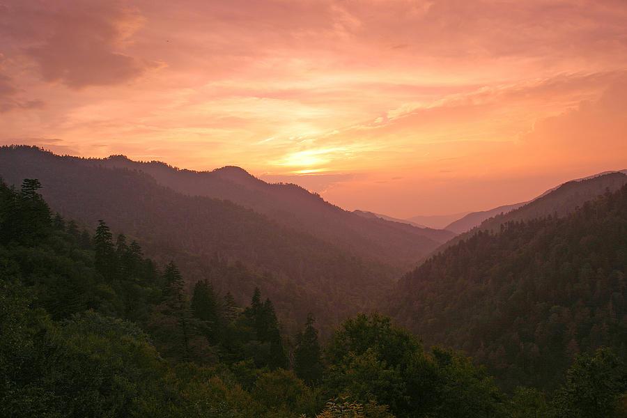 Landscape Photograph - Sunset In The Smokies. by Itai Minovitz