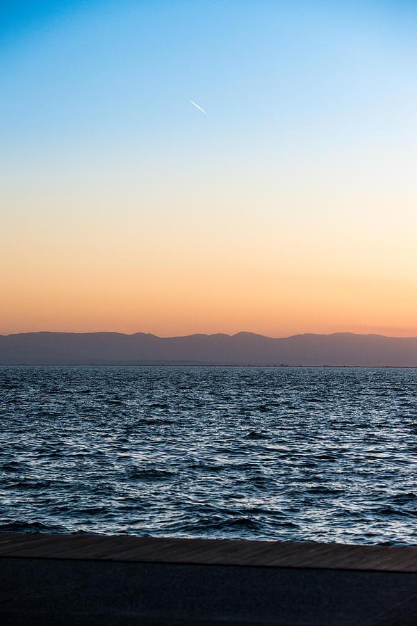 Beach Photograph - Sunset In Thessaloniki Greece by Sotiris Filippou