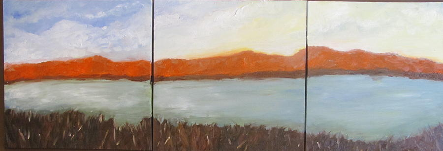 Water Painting - Sunset by Jenell Richards