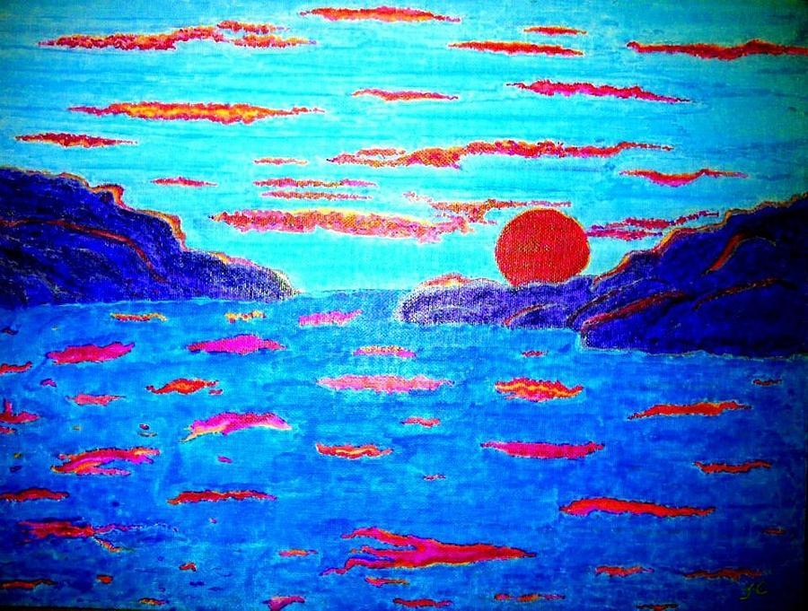 Van Gogh Painting - Sunset by John Cunnane