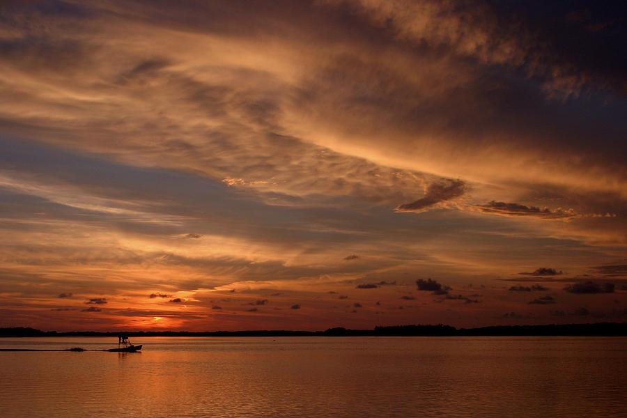 Fishing Boat Photograph - Sunset by Joseph G Holland