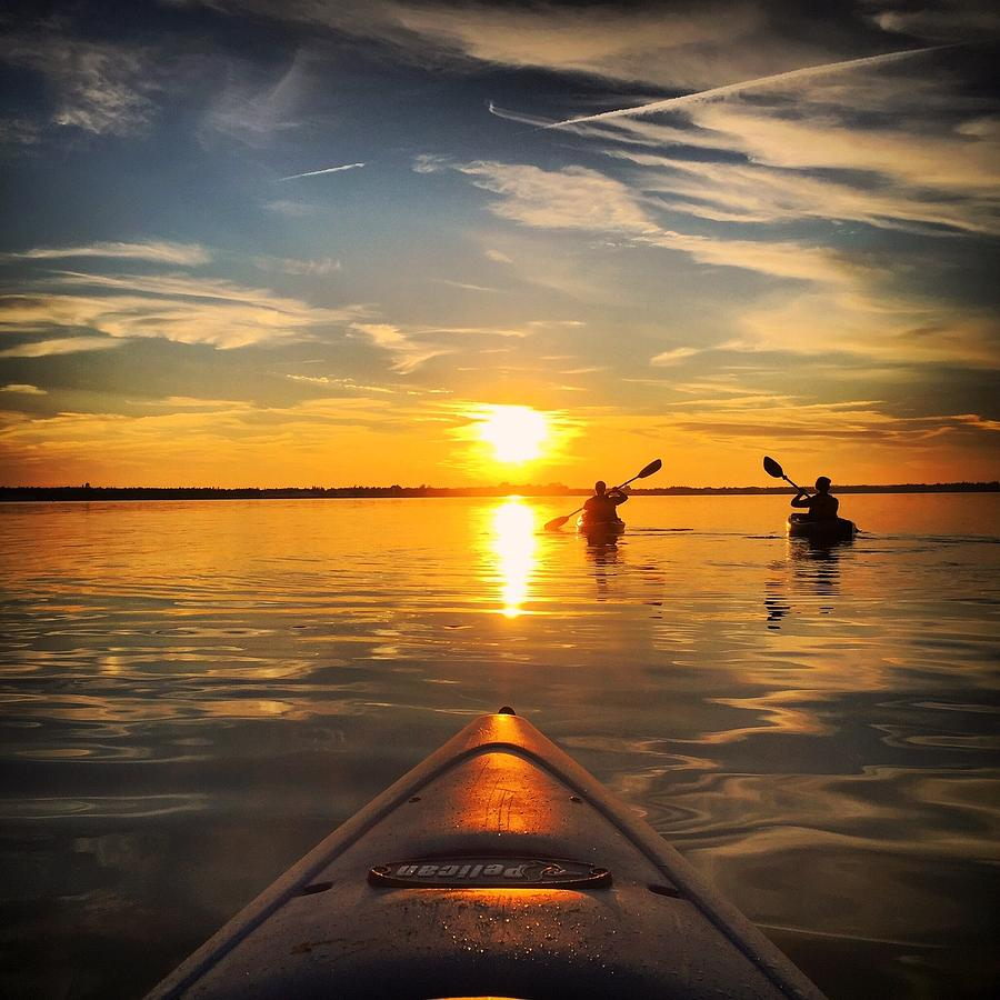Sunset Kayak 3 Photograph by Christine Sharp
