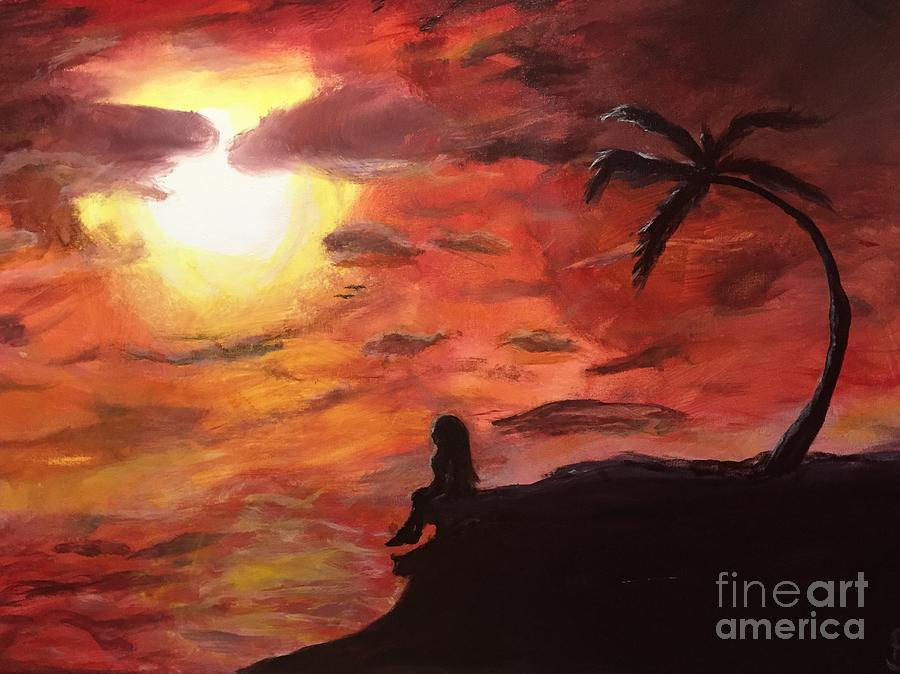 Sunset Painting - Sunset by Kimmi Sandhu