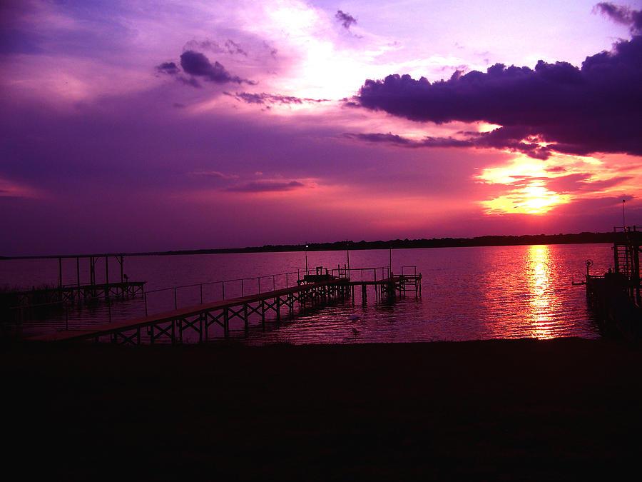 Lake Photograph - Sunset Lake 2 by Evelyn Patrick