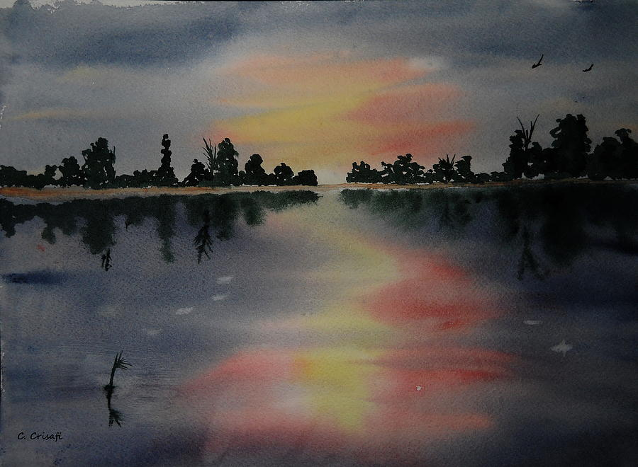 Sunset Lake by Carol Crisafi