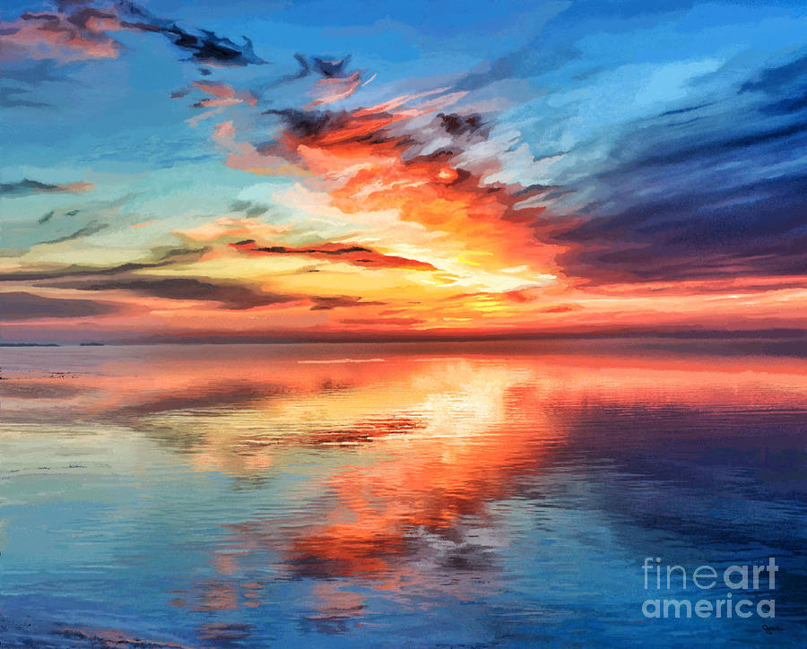 Sunset Lake Reflection by Jackie Case