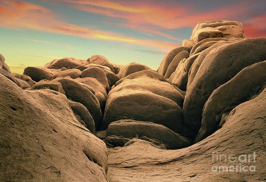 sunset landscape - Pinnacles sunset by Sharon Hudson