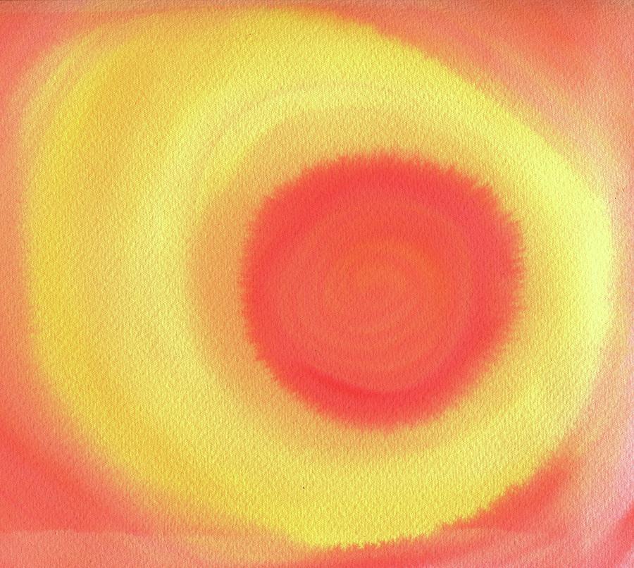 Orange Painting - Sunset by Leonie Solomon Green