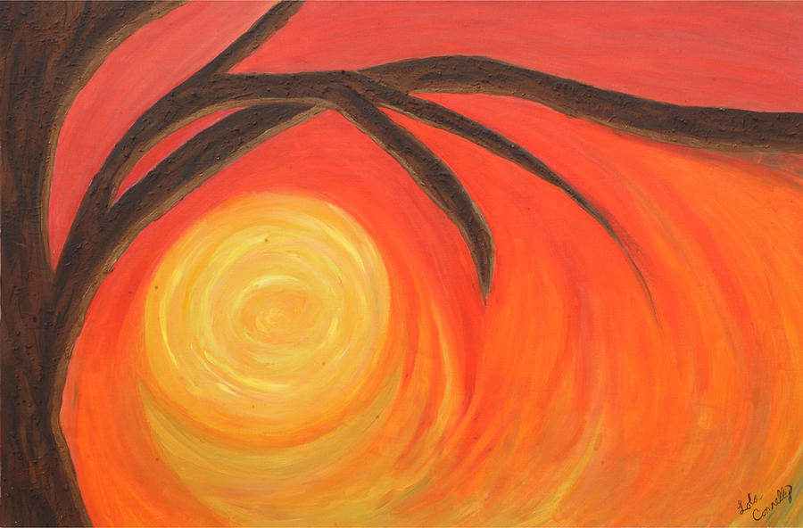 Sunset Painting - Sunset by Lola Connelly