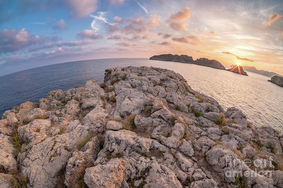 Sunset Malgrats Island Wide Angle by Hans- Juergen Leschmann