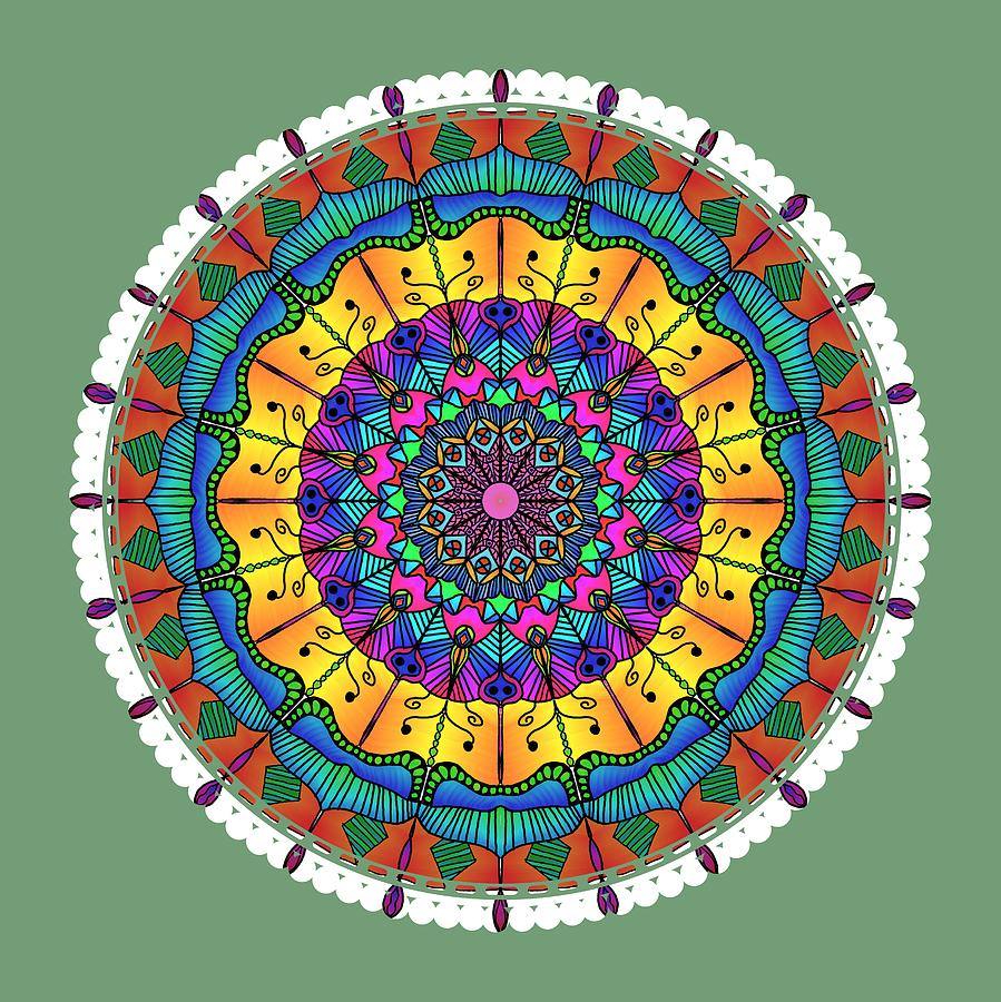 Sunset Mandala by Becky Herrera
