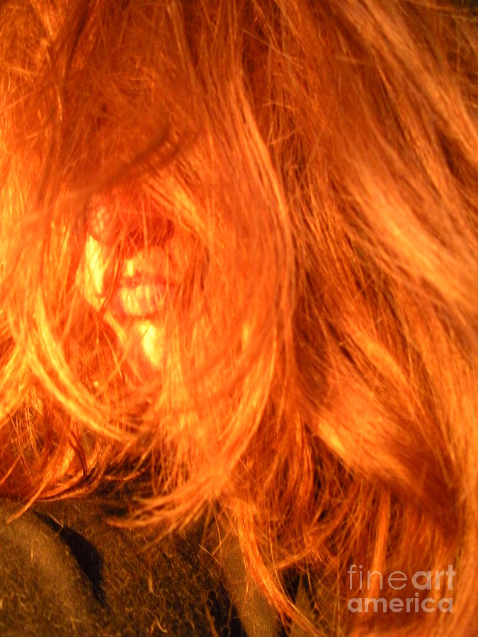 Hair Photograph - Sunset Maria by Maria Bonnier-Perez