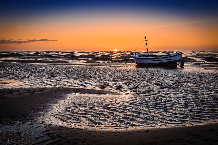 England Photograph - Sunset, Meols Beach by Peter OReilly