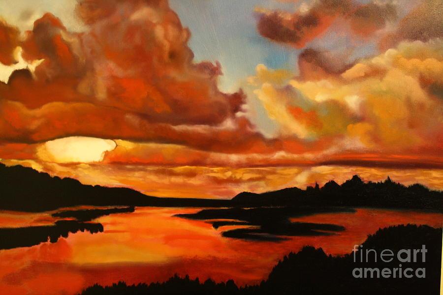 Michael Kulick Painting - Sunset by Michael Kulick