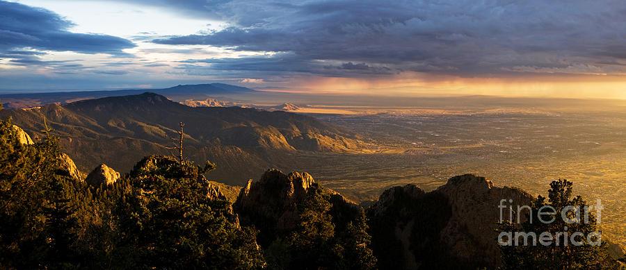 Sandia Photograph - Sunset Monsoon Over Albuquerque by Matt Tilghman