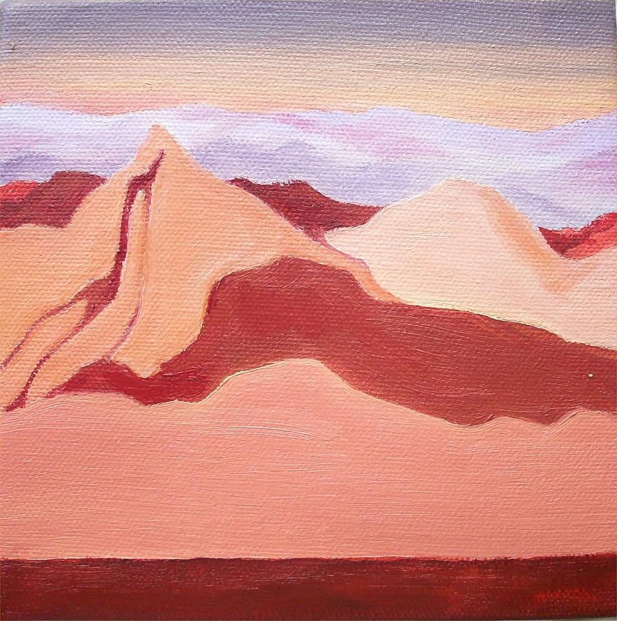 Reds Painting - Sunset Mountain by Irene Corey