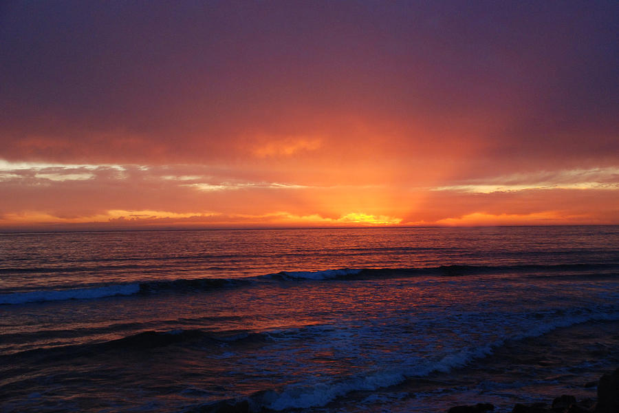 Sunset Photograph - Sunset Near Carpinteria by JOANNE McCubrey