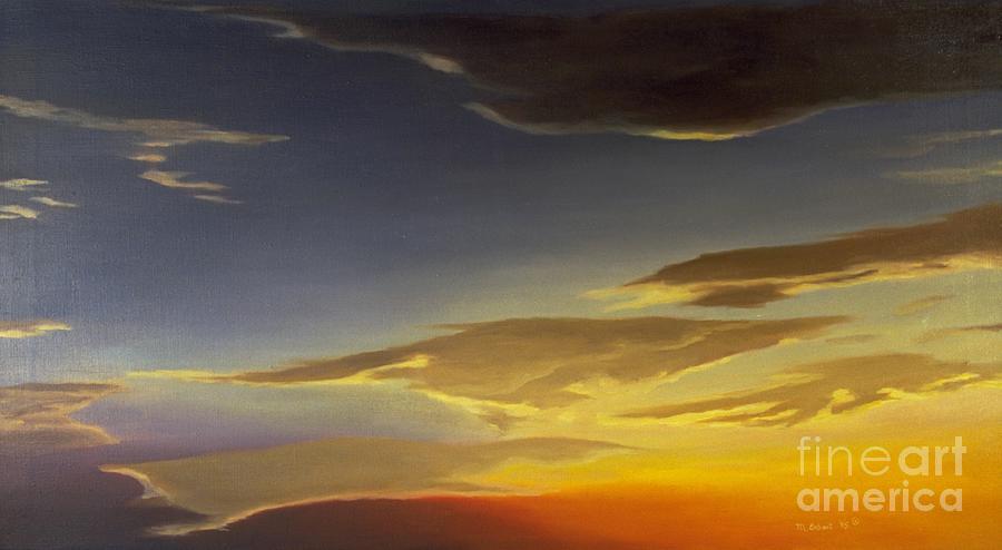 Sky Painting - Sunset Near Rowlett by Mary Erbert