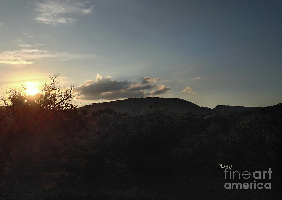 Texas Hill Country Photograph - Sunset Near The Fig Preserve - Two by Felipe Adan Lerma
