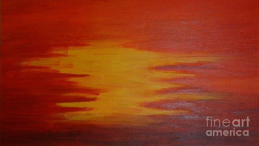 Sunset Painting - Sunset by Nyna Niny