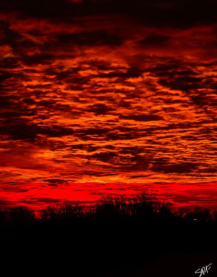 Sun Digital Art - Sunset Of New Mexico by Savannah Fonner