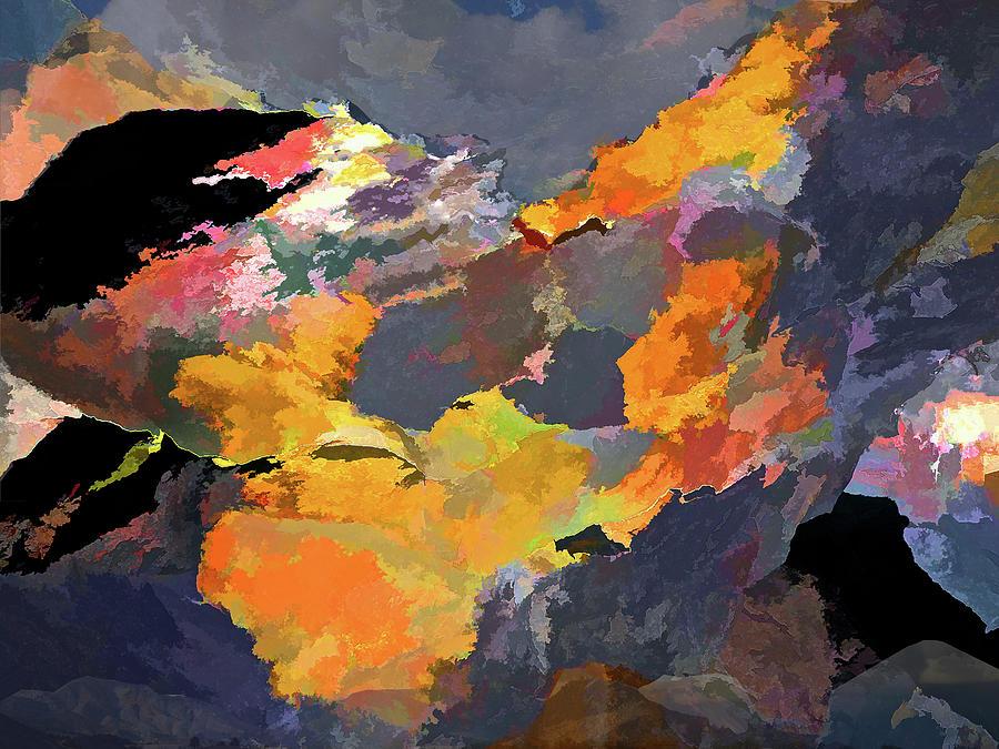 Drama Mixed Media - Sunset of the Gods 4 by Lynda Lehmann