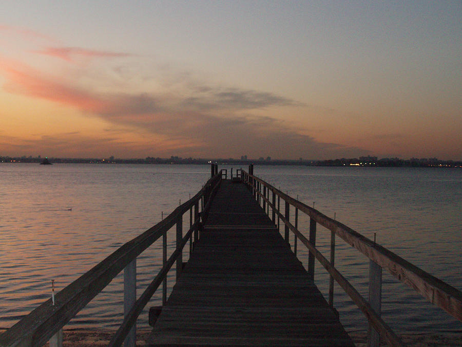 Sunset Photograph - Sunset Off The Pier by Bill Ades