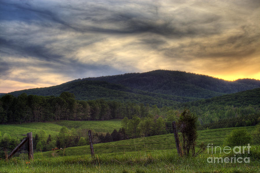 Landscape Photograph - Sunset On Appleberry Mountain 2 by Pete Hellmann