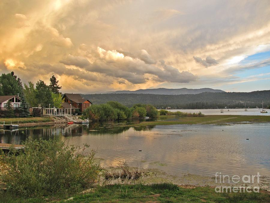 Big Bear Lake Photograph - Sunset On Big Bear Lake by Traci Lehman