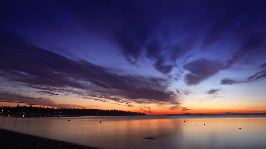 Sunset Photograph - Sunset On Birch Bay 3 by Julius Reque