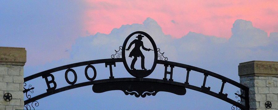 Boot Hill Photograph - Sunset On Boot Hill by Cindy New