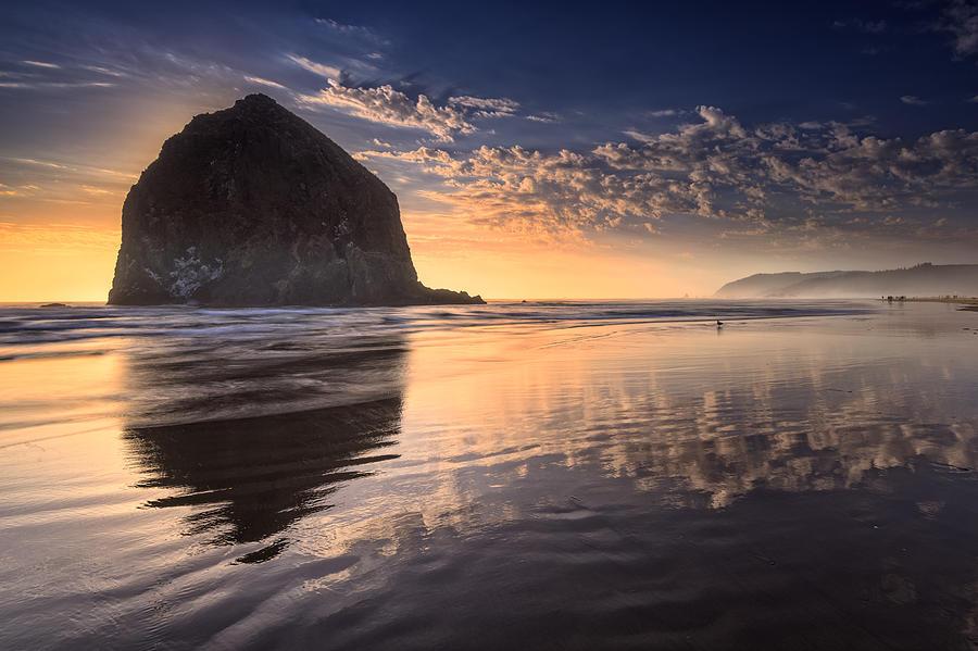 Oregon Photograph - Sunset On Cannon Beach by Rick Berk