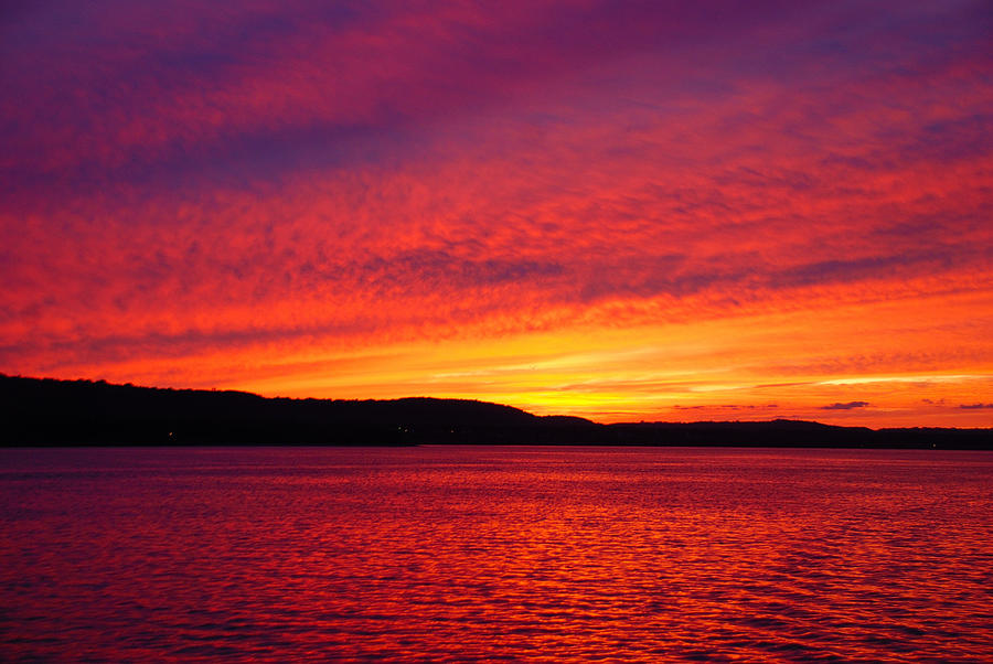 Sunset Photograph - Sunset On Fire by Larry Nielson