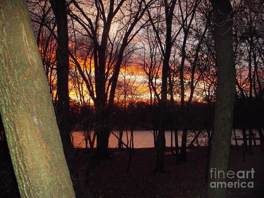 Sunset On Fox River Photograph by Deborah Finley
