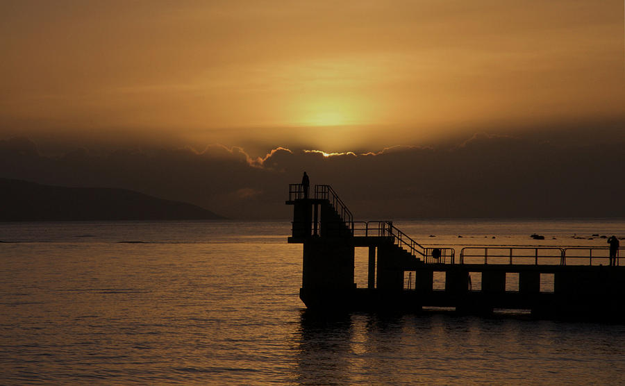 Sunset on Galway Bay Photograph by Rachel Dubber