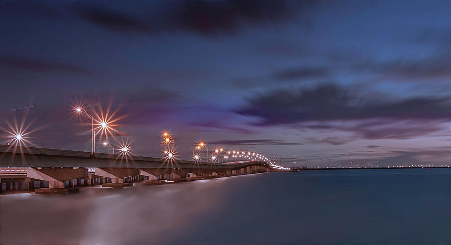 St. Petersburg Photograph - Sunset On Gandy Bridge by Todd Rogers