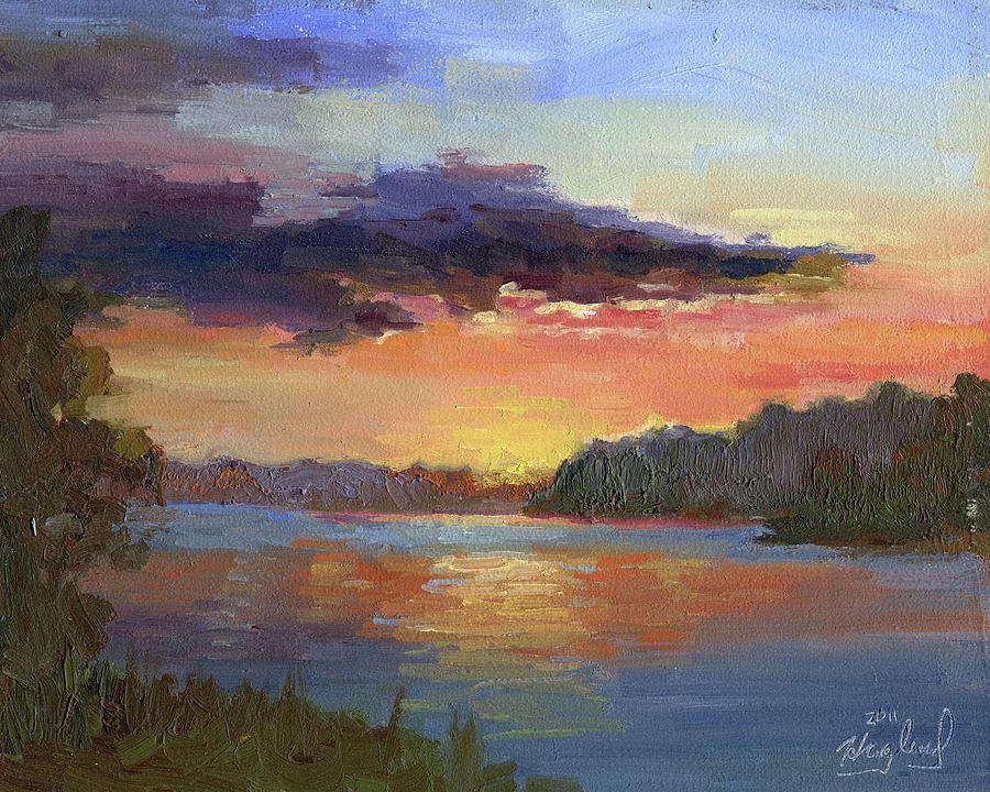 Sunset On Green Lake by Mark Haglund
