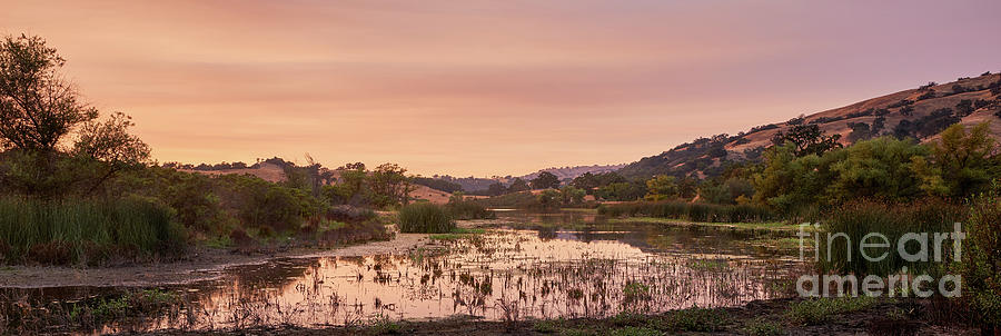 Sunset on Halls Valley Lake - Soft Light, Warm by Dean Birinyi