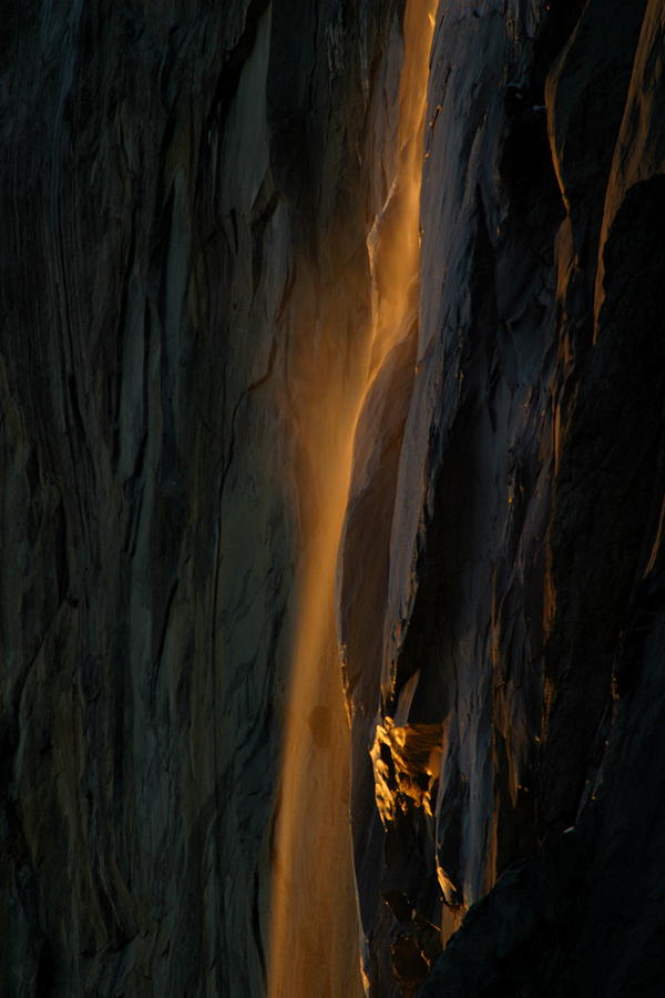 Sunset On Horsetail Falls Photograph by Jim Scott